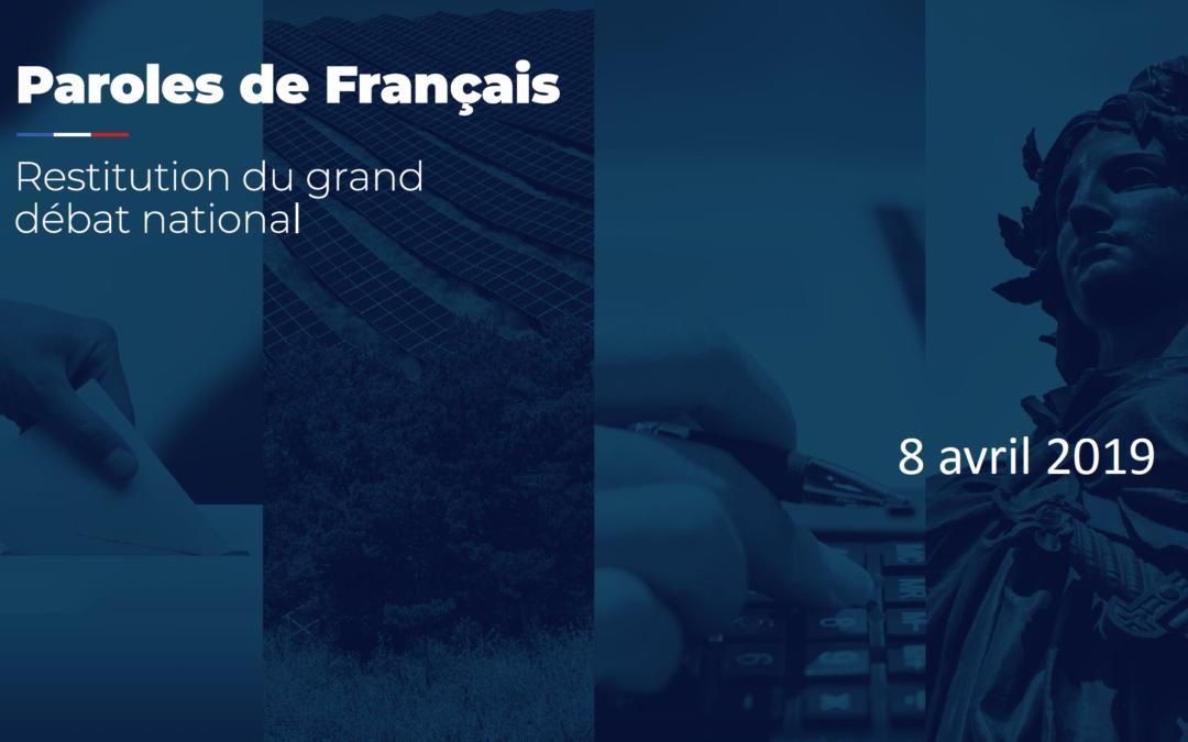 Lundi 8 avril 2019 – Restitution du Grand Débat National avec Edouard Philippe, Premier Ministre